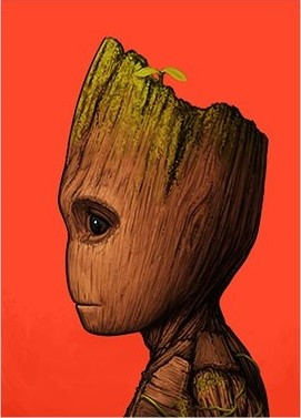 Guardians of the Galaxy Baby Groot Marvel Portrait Print by Mike Mitchell x Mondo
